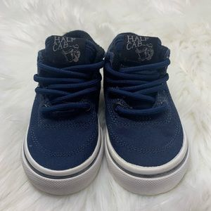Vans Infant Navy Half Cab Sneakers, sz 5.5